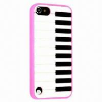 China Classic Black/White Piano Keyboard Design Silicone Case for iPod Touch 5 on sale