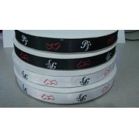 custom luxury polyester satin ribbon in roll with logo printing manufacturer