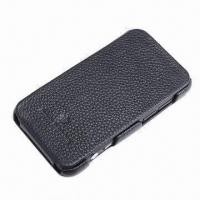 Cow Leather Cellphone Cover, Suitable for HTC EVO 3D (G17)