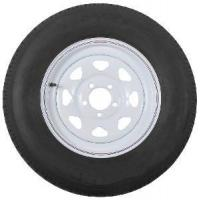 """Buy St205/75r15 Radial Trailer Tire with 15"""" White Wheel - 5 on 4-1/2 at wholesale prices"""