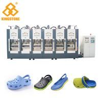 China Two Stations EVA Shoes Slipper Making Machine With Full Automatic Open - Close Mould on sale
