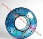 Quality Ocean Blue Color Ceramic Bird Feeder 10 OZ Capacity for sale