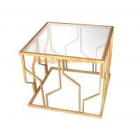 Quality Reasonable Price Quality Assured Fashion Design Metal Framed Tempered Glass Top Decorative  Coffee Table for sale