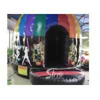 Quality Kids N adults inflatable music disco dome bouncy castle with light hooks on top for outdoor N indoor parties for sale