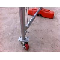 Quality Portable Construction Fence Secure Temporary Fencing With Locking Lock / Rubber Rollers for sale