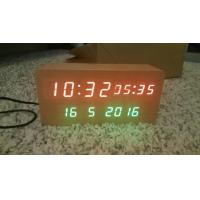Quality wood alarm azan clock quran speaker on table clock inside 8GB TF card Arabic languages with IR control for sale