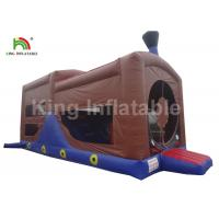 Buy cheap Children Inflatable Jumping Castle , 0.55mm PVC Commercial Inflatable Trampoline from wholesalers