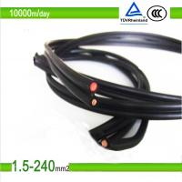 China 1.5mm2/10mm2 black color pv solar photovoltaic cable on sale