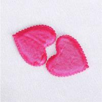 Quality Pink Satin Applique Crafts Triming Sewing Appliques Sew - On Style for sale