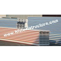 EPS / PU Metal Roofing Sheets With Color Steel Sandwich Panel