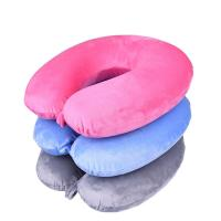 Quality Fashion u shaped pillow travel pillow memory foam neck pillow with buton for sale