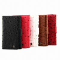 China New Design PU Cases for Samsung, with Ostrich Pattern on sale