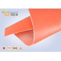 China 32oz Red Silicone Rubber Coated Fiberglass ClothFor Welding Blanket Fireproofing Textiles on sale
