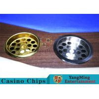 Quality Copper Color Poker Table Accessories , Windproof Stainless Steel Ashtray for sale