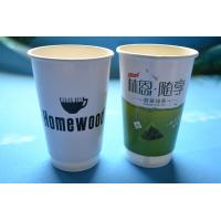 Buy cheap 8oz 12oz 16oz Double Wall Paper Cups / Corrugated Paper Coffee Cup With Lids from wholesalers