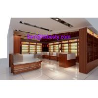 Quality High end shop-in-shop jewellery display cabinets and timber veneer showcases for sale
