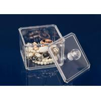 Buy Transparent Plastic Display Stand Cube Box For Makeup With Lid at wholesale prices