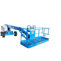 Quality Blue Grey Color Portable Boom Lift  Commins Engine Manual Platform Lowering Valve for sale
