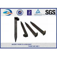 Quality Railroad Track Spikes / Dog Spike For Timber Sleeper GOST5812 Standard 16x16x165mm for sale