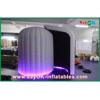 China Strong Oxford Cloth Photobooth , Large Inflatable Photo Booth With LED light on sale