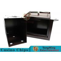 Quality Luxury Double Lock Cash Holder Box , High Precision Security Casino Cash Box for sale