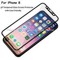 China 3D Full Cover Tempered Glass Screen Protector 0.33mm 9H Anti Fingerprint Case Friendly for iPhone 8 on sale