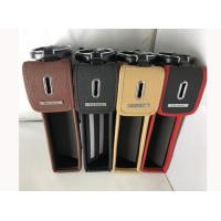 Quality Long Life Spend Leather Car Seat Gap Pocket With Cup Holder SGS Certification for sale