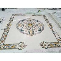 Quality Polished Marble Decorative Tile Medallions , Lobby Hall Stone Tile Medallions for sale