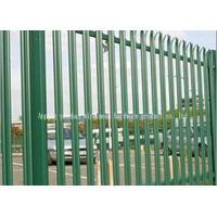 Hot Dipped Galvanised Steel Security Fencing , Palisade Security Fence