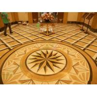 Quality Beige Foyer Marble Floor Medallions For Outdoor / Indoor Decorative for sale