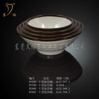 Quality Melamine Tableware brown bowl plastic round bowl soup bowl melamine for sale
