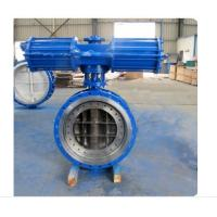 China Pneumatic Metal Seated Butterfly Valves DN300 PN10 For Industrial Waste Water on sale