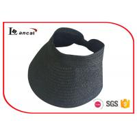 China Black Packable Straw Sun Hat on sale