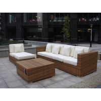 Quality Indoor / Outdoor Rattan Furniture , Cane Corner Sofa For Meeting Room for sale