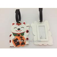 China Fortune cat shape design luggage tag custom and supply for bank promotional gifts on sale