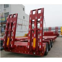 Quality 65/ 70/ 80 Ton Low Bed Semi Trailer 3 Units Transporting For Machine for sale