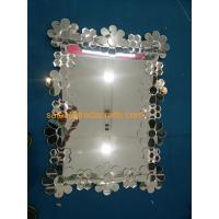 Quality European Style Glass Flower Decorated Rectangle Wall Wall Wholesale for sale