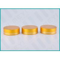 Quality Matt Gold Lined Aluminum Screw Top Caps 38/410 For Health Care Products Containers for sale
