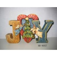 China Poly resin  Christmas Nativity Decoration statues arts and crafts with cute letters on sale