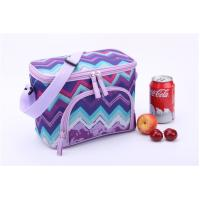 Quality Purple Wave Print Insulated Promotional Small Lunch Bags Measured 24.5 * 14 * 16cm for sale