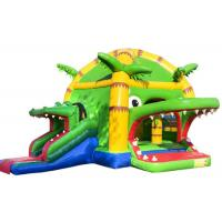 Quality Scary Crocodile Kids Inflatable Bounce House In Public 5.2 * 5.9 * 4.5 Customized for sale