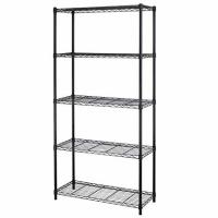 China Black 5 - Layers Commercial Wire Shelving Unit For Healthcare Product Storage on sale