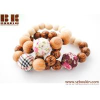 China handmade essential Wooden Bead Stretch Bracelet Wood beads buddha stretch bracelet on sale