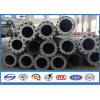 China Hot Roll Steel Metal Utility Poles , 345Mpa Min Yield Stress Electrical Poles And Towers on sale