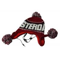 China Beanie hat headphone with ball top in cute design on sale