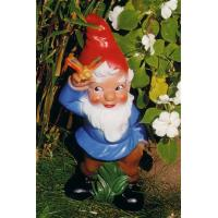 Quality Happy guitar player resin garden gnome figure for sale