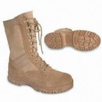 China Combat Boots with Sand Suede/1200 Denier Cordura Upper and Polyurethane Removable Footbeds Insole on sale