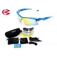 Custom Cycling Outdoor Sports Sunglasses For Men / Women / Kids 4 Colored Lens