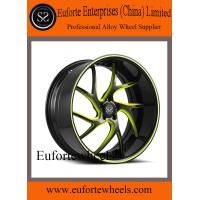 Quality Black and Red Forged Custom Wheels 13 - 15KG 20 Inch Car Rims for sale