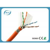 Quality 23AWG Solid Full Copper Cat6 Cable Bulk , Network Communication Cat 6 Ethernet Cable for sale